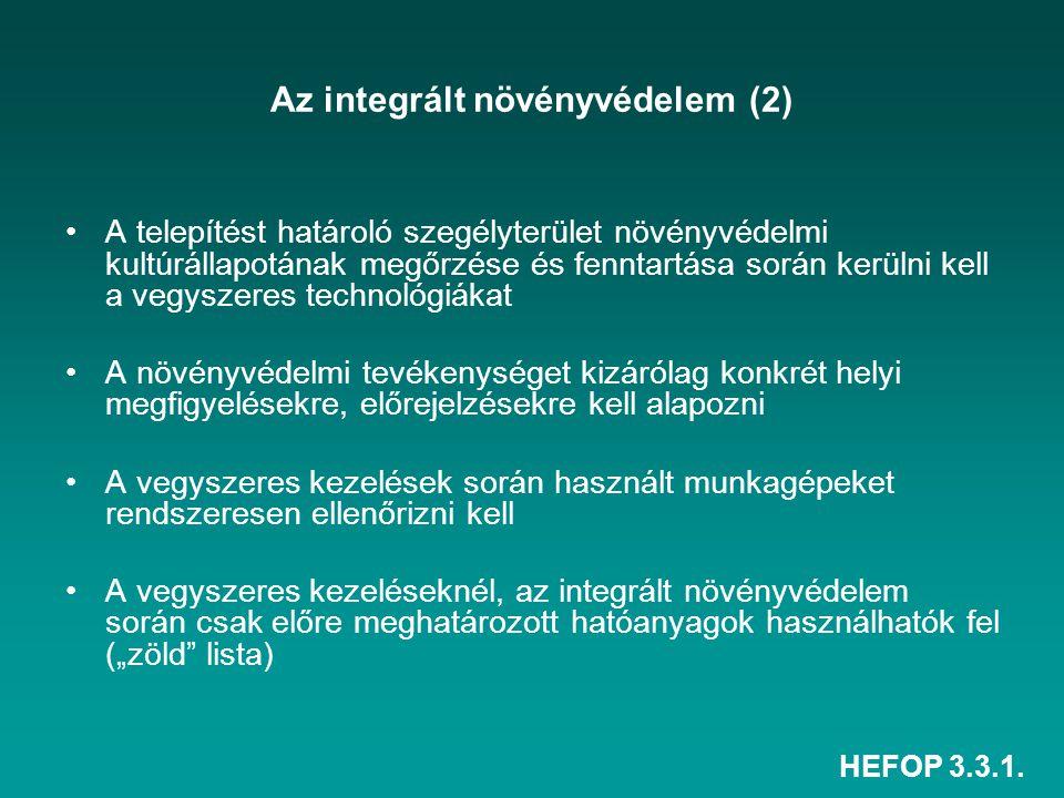 Az integrált növényvédelem (2)