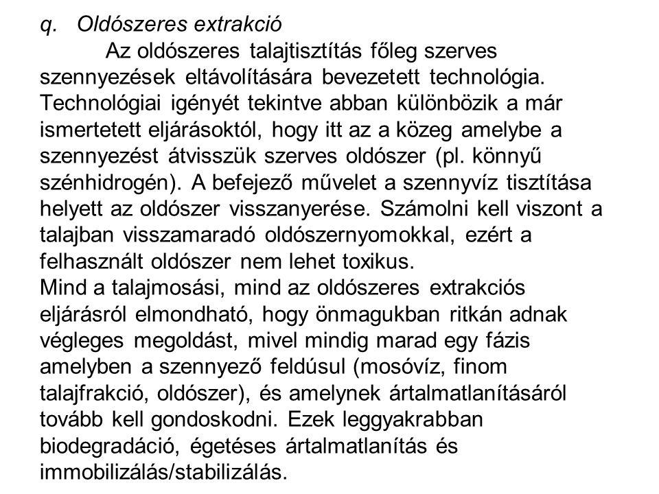 q. Oldószeres extrakció
