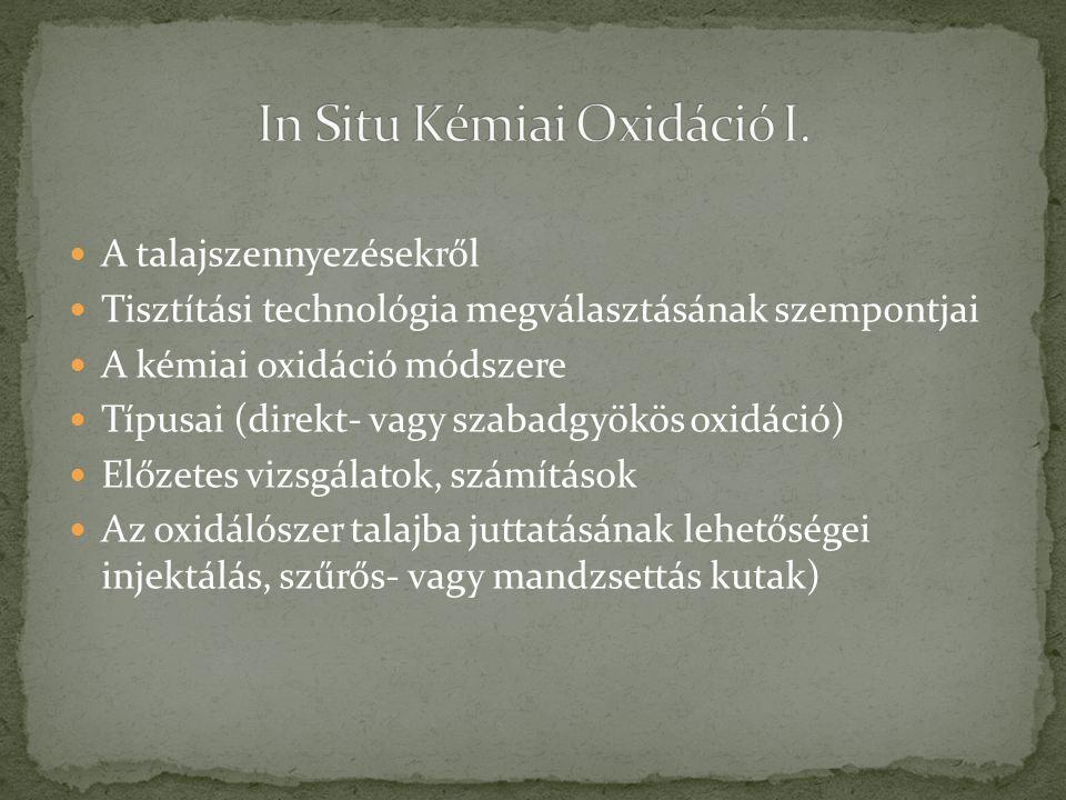 In Situ Kémiai Oxidáció I.