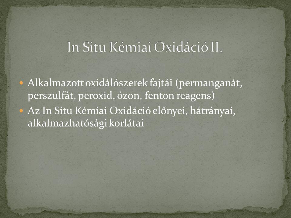 In Situ Kémiai Oxidáció II.