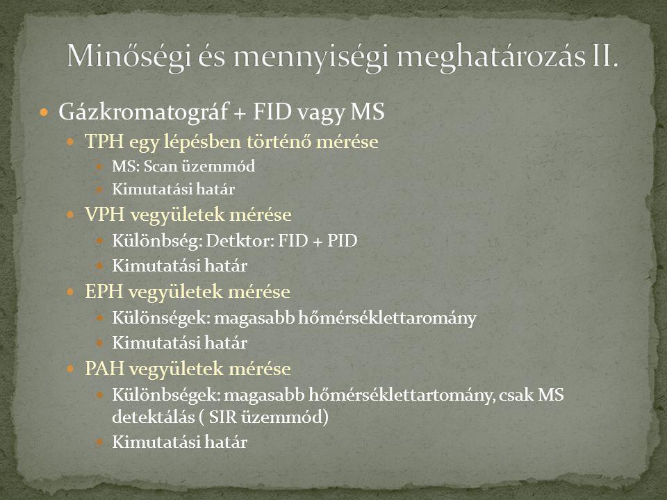 Minőségi és mennyiségi meghatározás II.