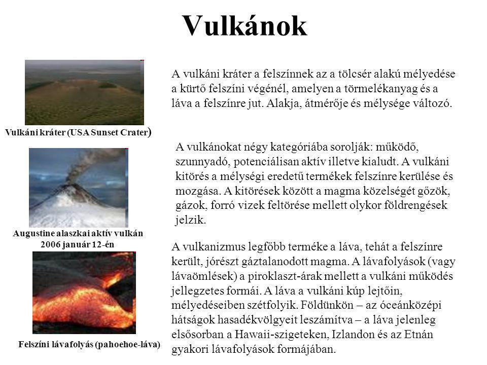 Augustine alaszkai aktív vulkán 2006 január 12-én