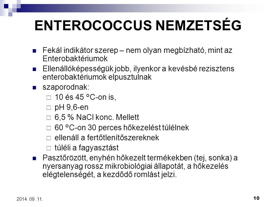 ENTEROCOCCUS NEMZETSÉG