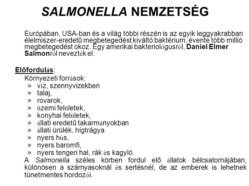 SALMONELLA NEMZETSÉG