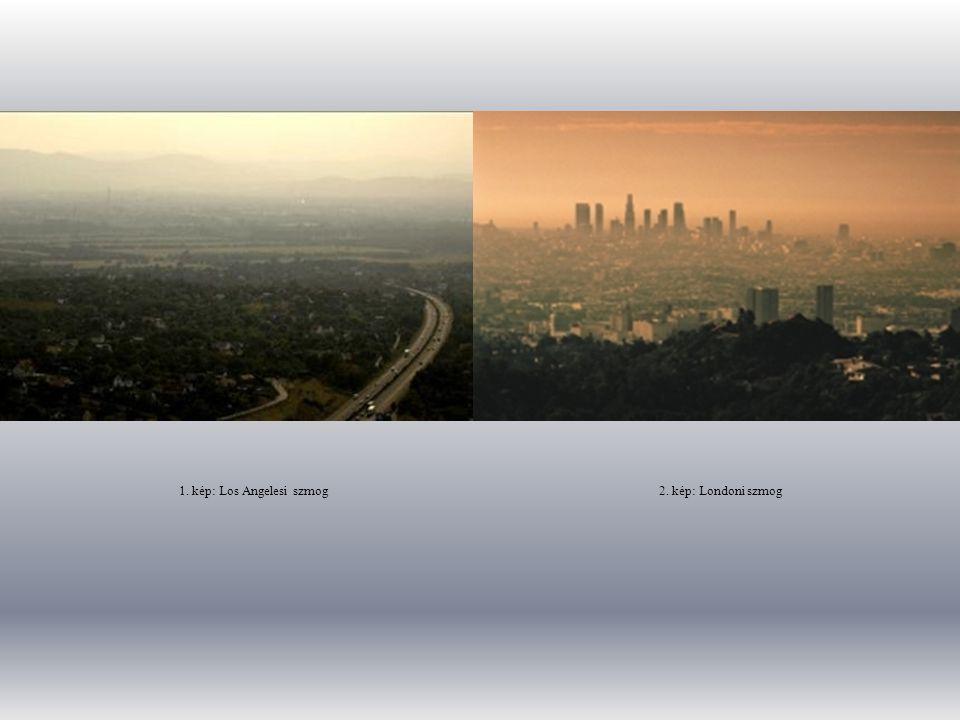 1. kép: Los Angelesi szmog 2. kép: Londoni szmog
