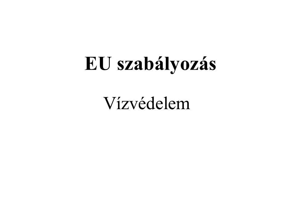 EU szabályozás Vízvédelem