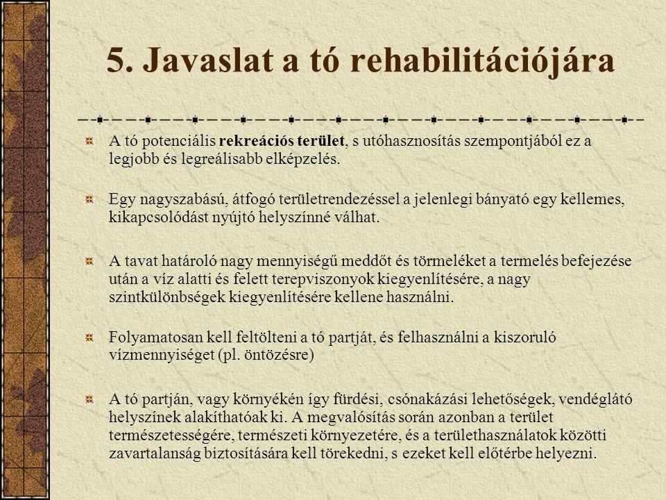 5. Javaslat a tó rehabilitációjára