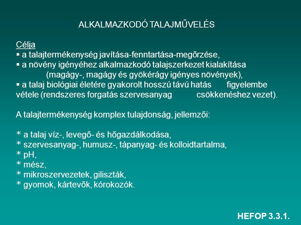 ALKALMAZKODÓ TALAJMŰVELÉS
