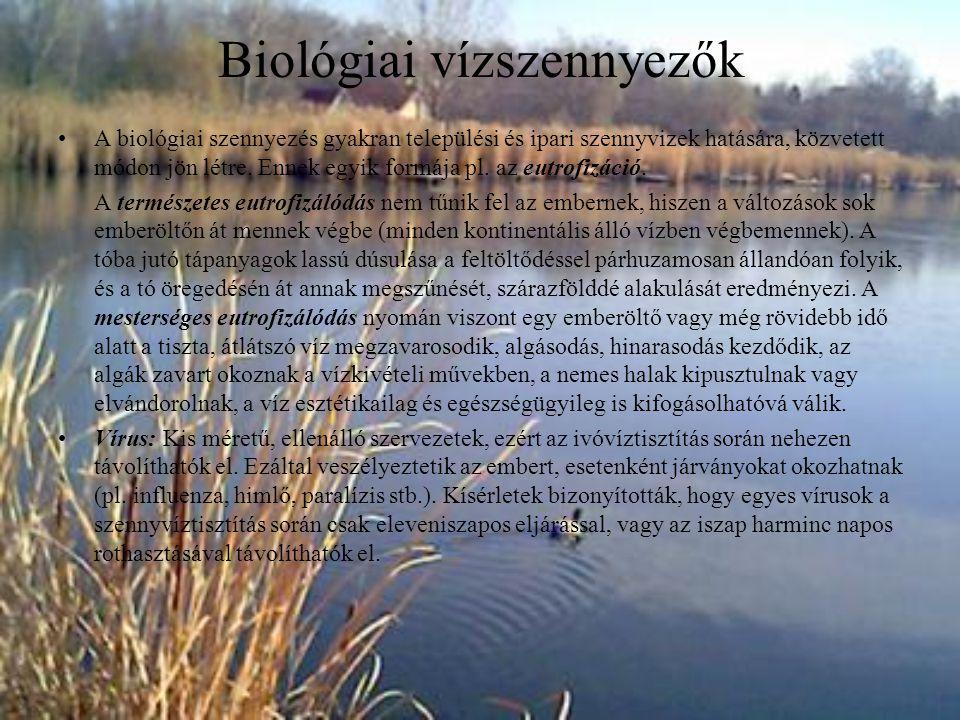 Biológiai vízszennyezők
