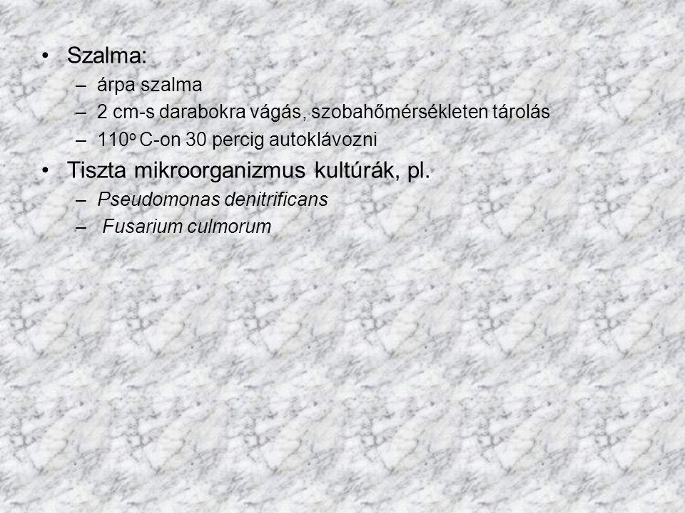 Tiszta mikroorganizmus kultúrák, pl.