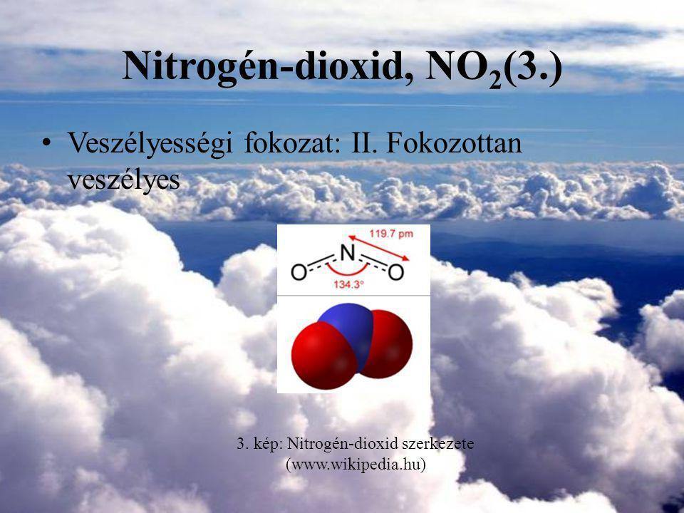 3. kép: Nitrogén-dioxid szerkezete (www.wikipedia.hu)
