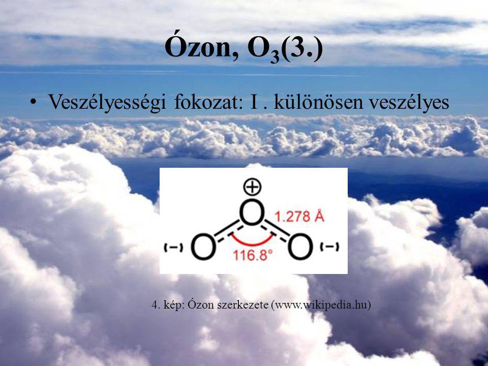 4. kép: Ózon szerkezete (www.wikipedia.hu)