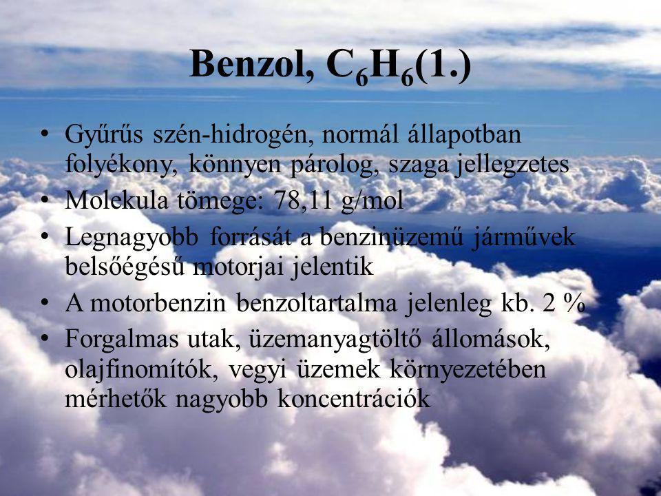 Benzol, C6H6(1.) Gyűrűs szén-hidrogén, normál állapotban folyékony, könnyen párolog, szaga jellegzetes.