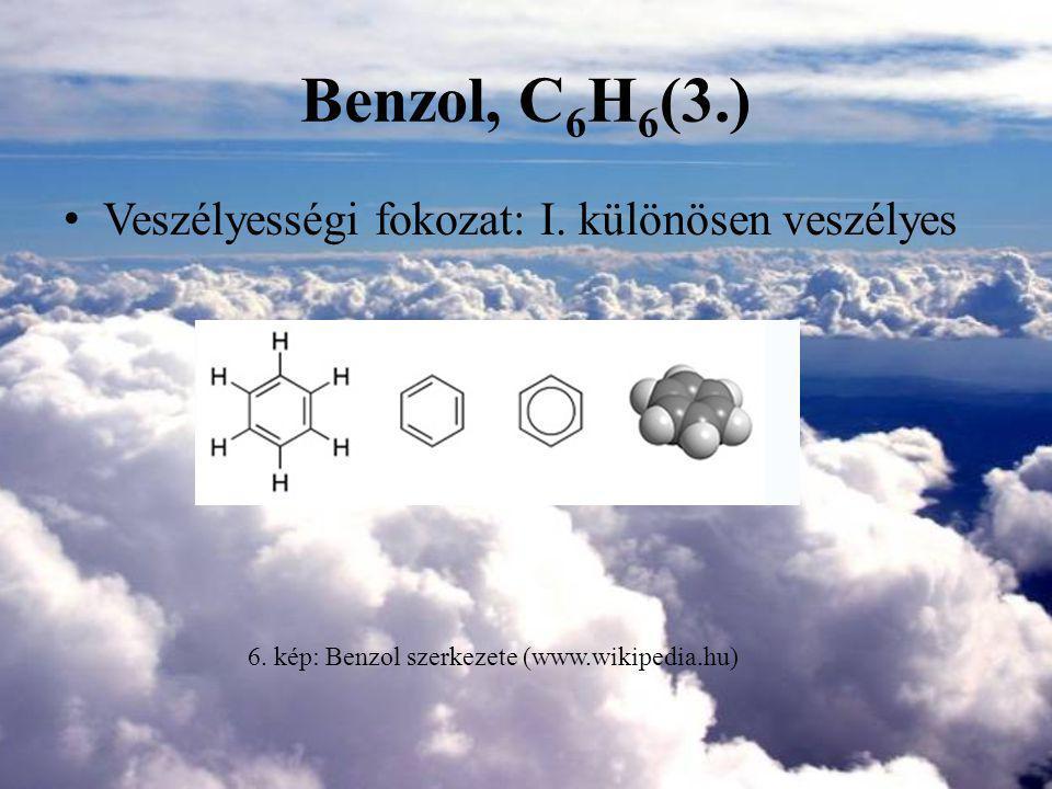 6. kép: Benzol szerkezete (www.wikipedia.hu)