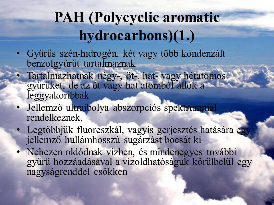 PAH (Polycyclic aromatic hydrocarbons)(1.)