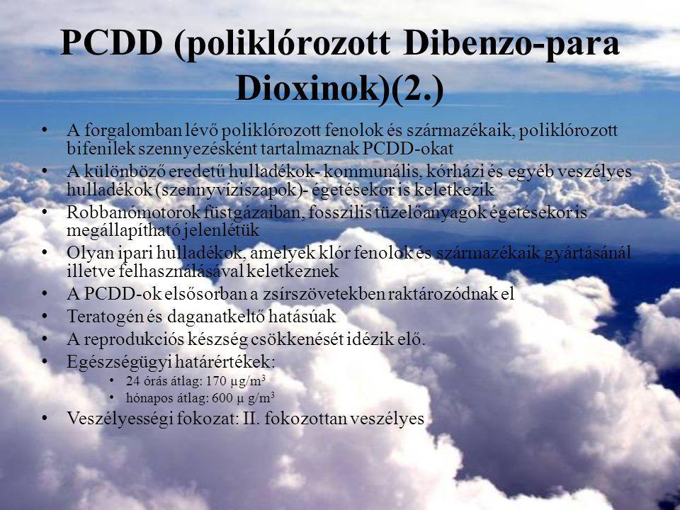 PCDD (poliklórozott Dibenzo-para Dioxinok)(2.)