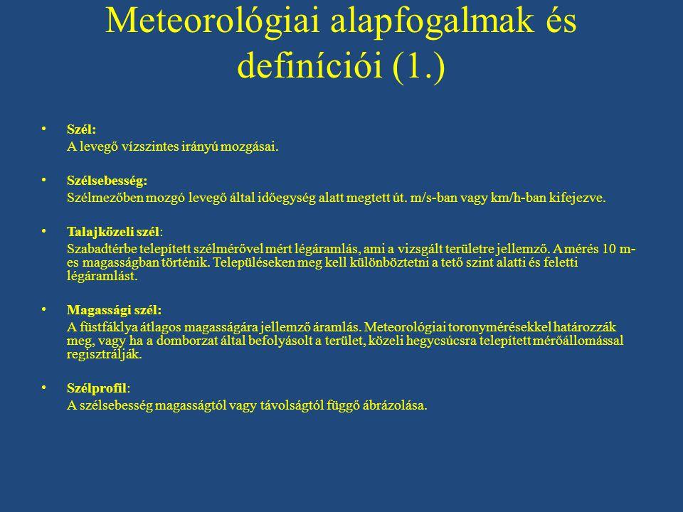 Meteorológiai alapfogalmak és definíciói (1.)