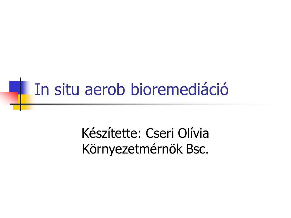 In situ aerob bioremediáció