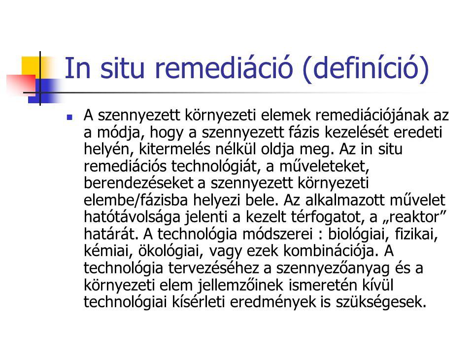 In situ remediáció (definíció)