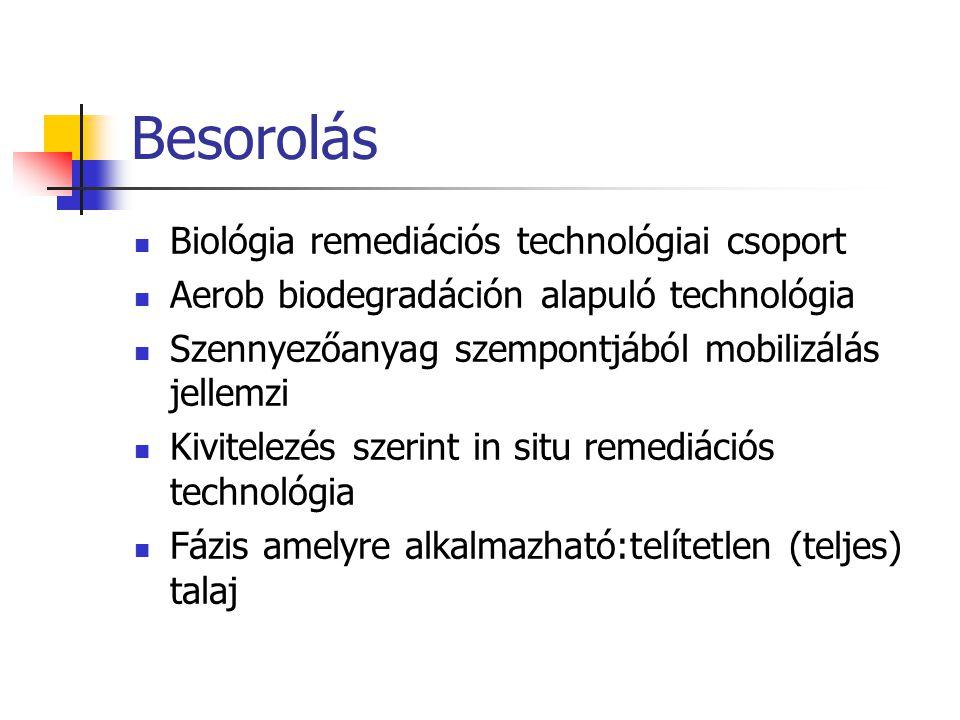 Besorolás Biológia remediációs technológiai csoport
