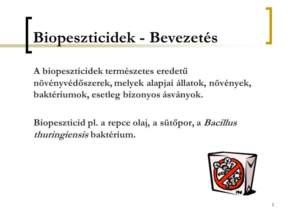 Biopeszticidek - Bevezetés