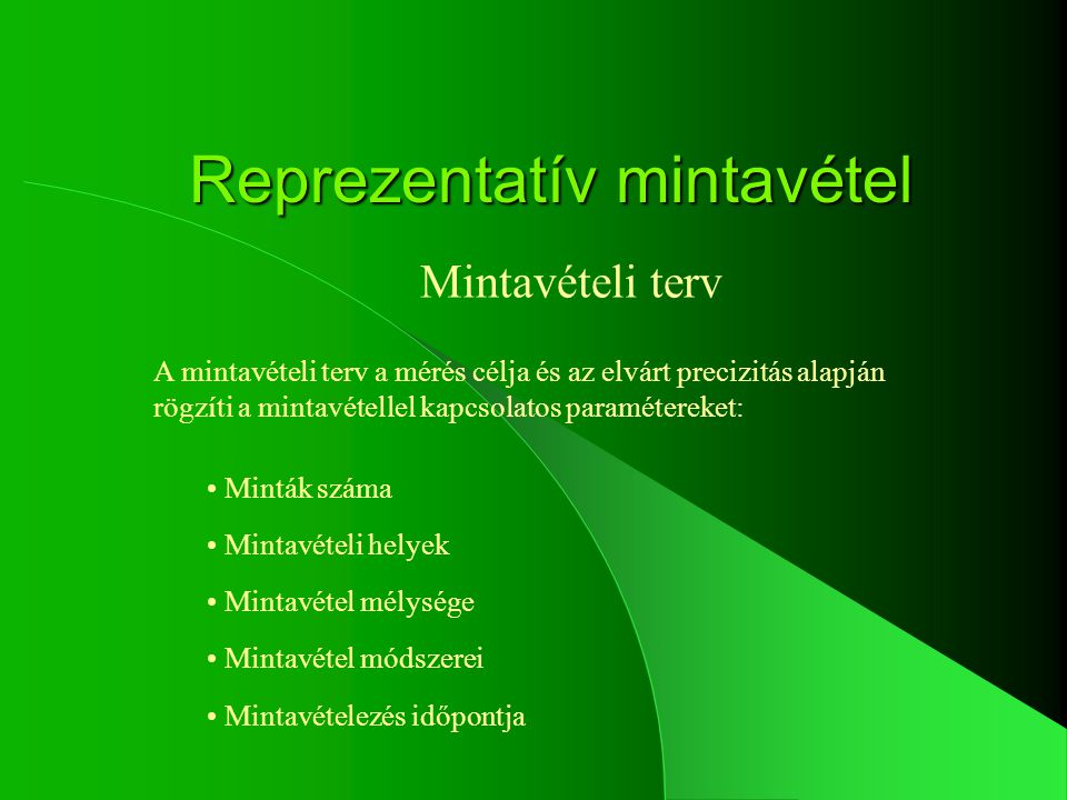 Reprezentatív mintavétel