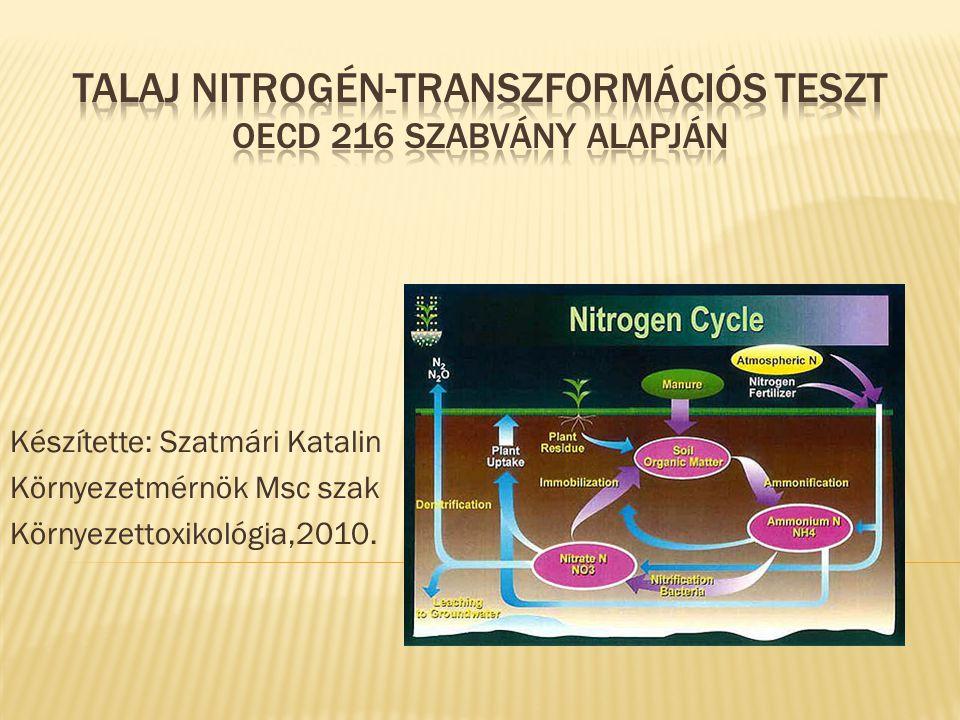 Talaj Nitrogén-Transzformációs teszt OECD 216 szabvány alapján