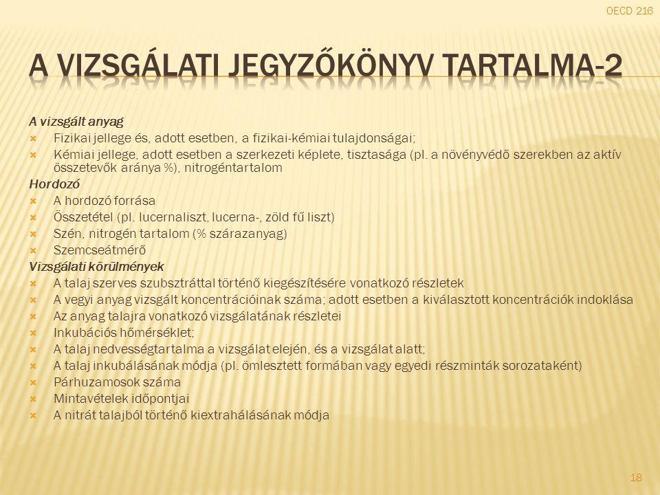 A vizsgálati jegyzőkönyv tartalma-2