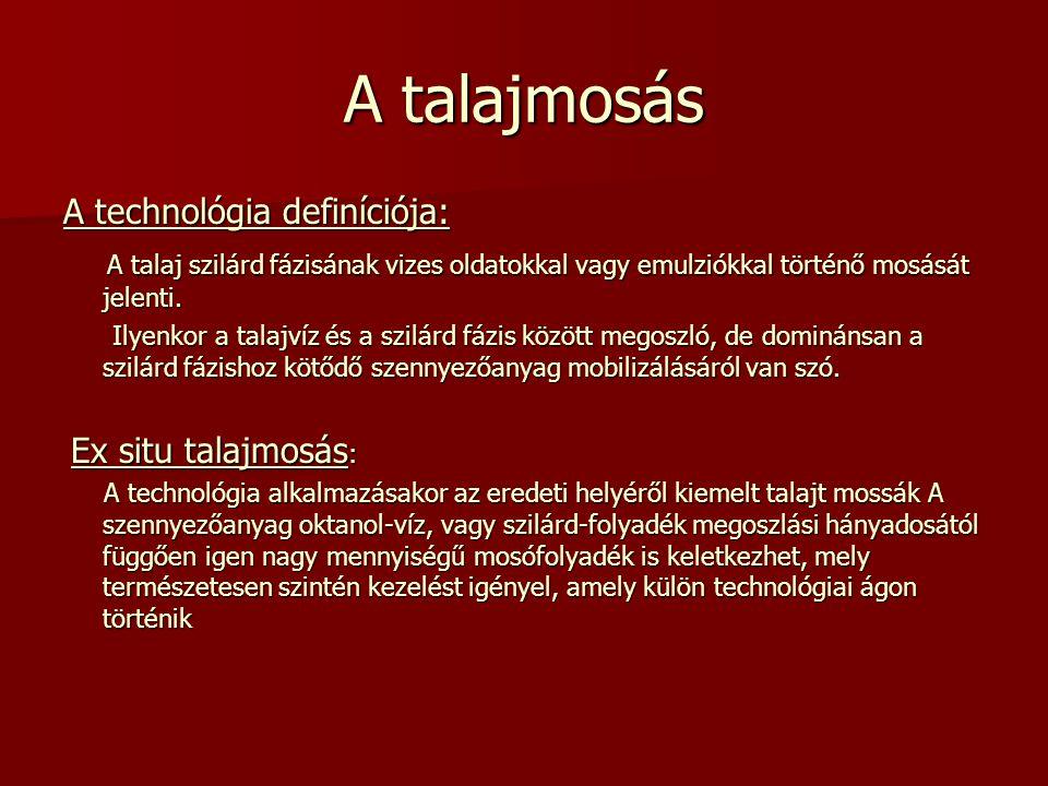 A talajmosás A technológia definíciója: