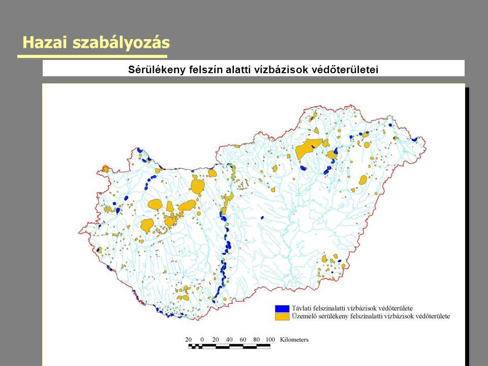 Sérülékeny felszín alatti vízbázisok védőterületei