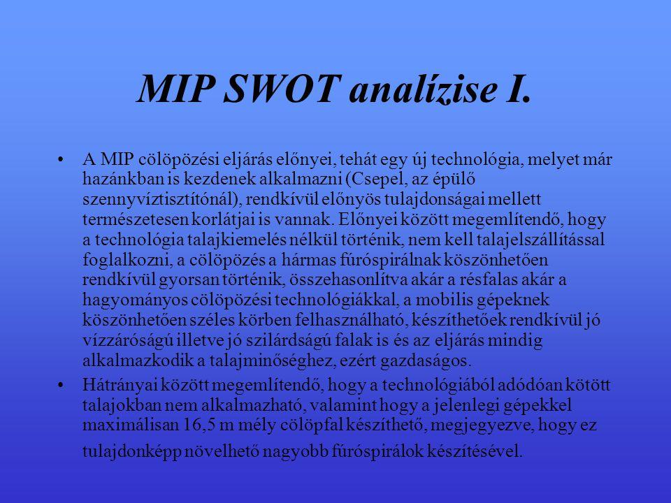 MIP SWOT analízise I.