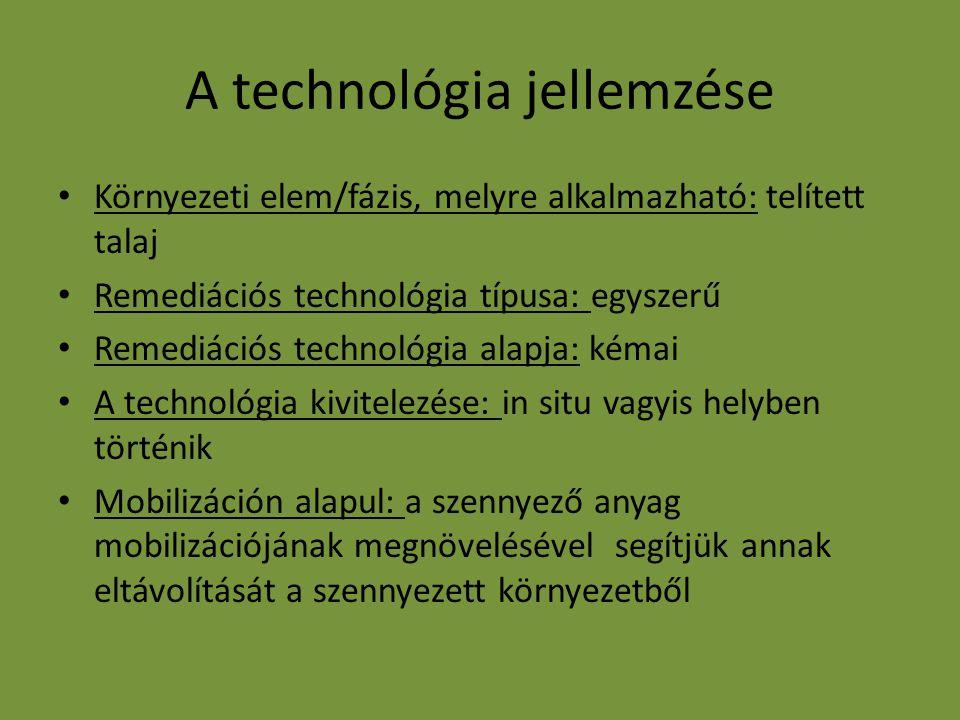 A technológia jellemzése