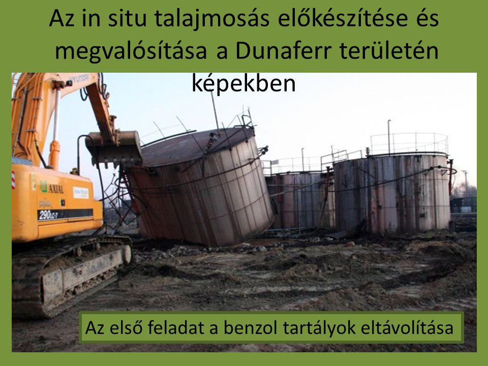 Az in situ talajmosás előkészítése és megvalósítása a Dunaferr területén képekben