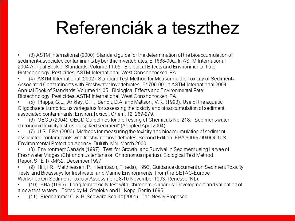 Referenciák a teszthez