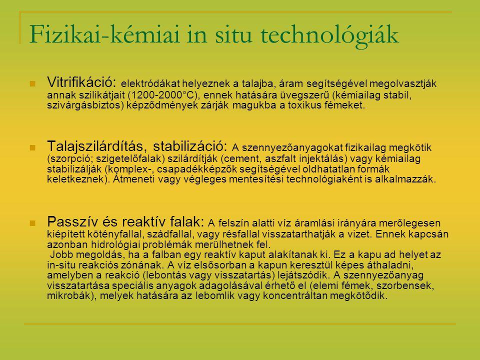 Fizikai-kémiai in situ technológiák