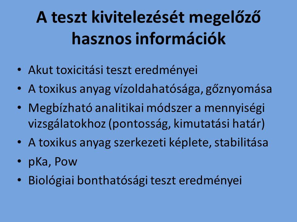 A teszt kivitelezését megelőző hasznos információk