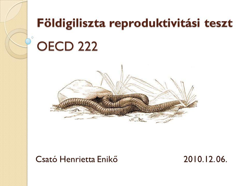 Földigiliszta reproduktivitási teszt OECD 222