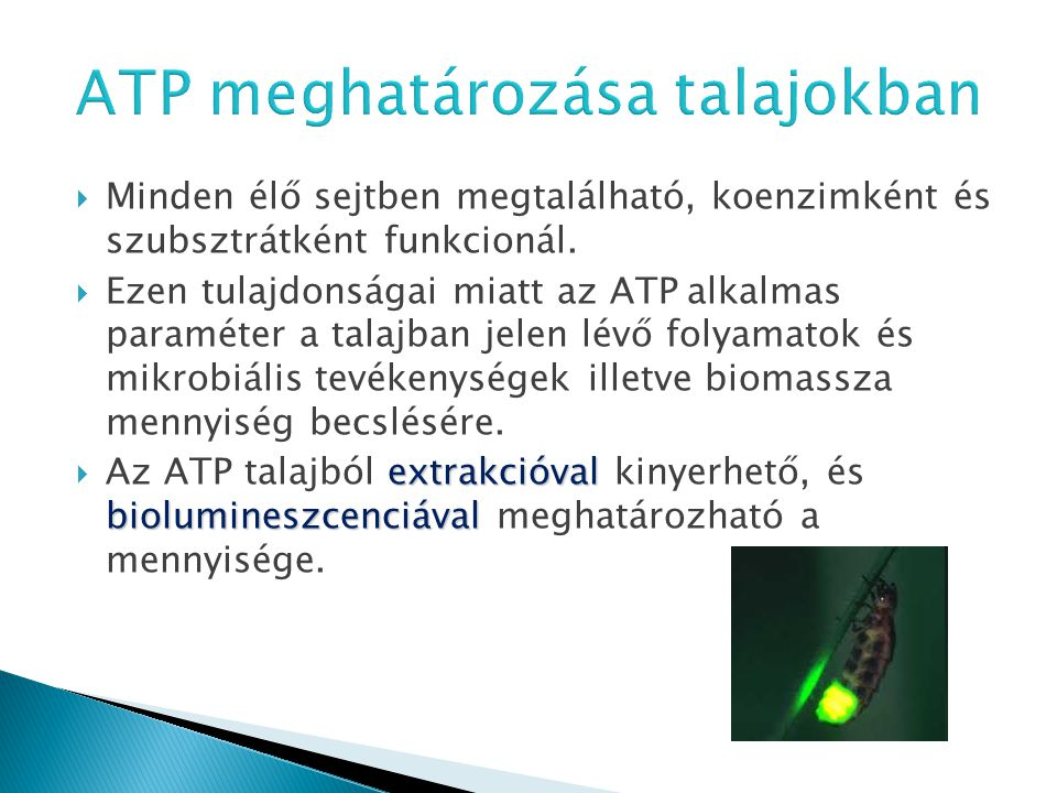 ATP meghatározása talajokban