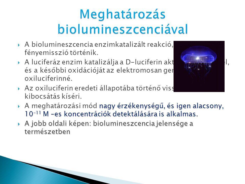 Meghatározás biolumineszcenciával
