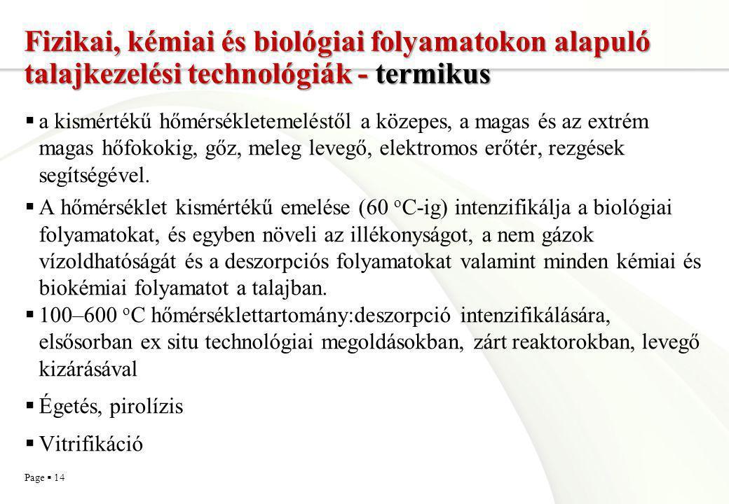 Fizikai, kémiai és biológiai folyamatokon alapuló talajkezelési technológiák - termikus