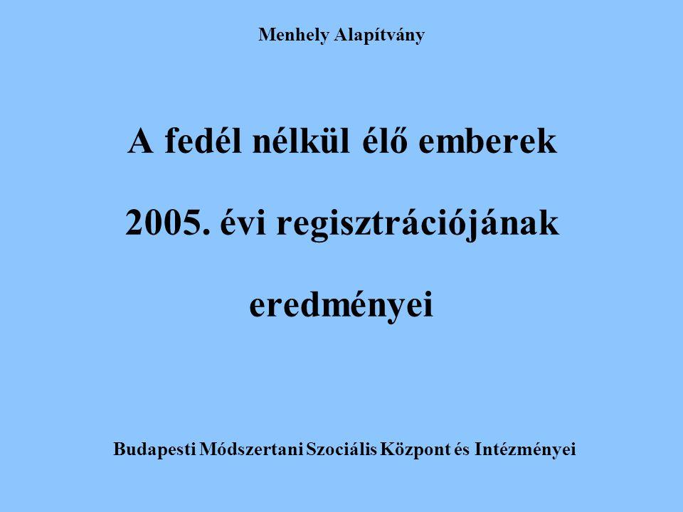 A fedél nélkül élő emberek 2005. évi regisztrációjának eredményei