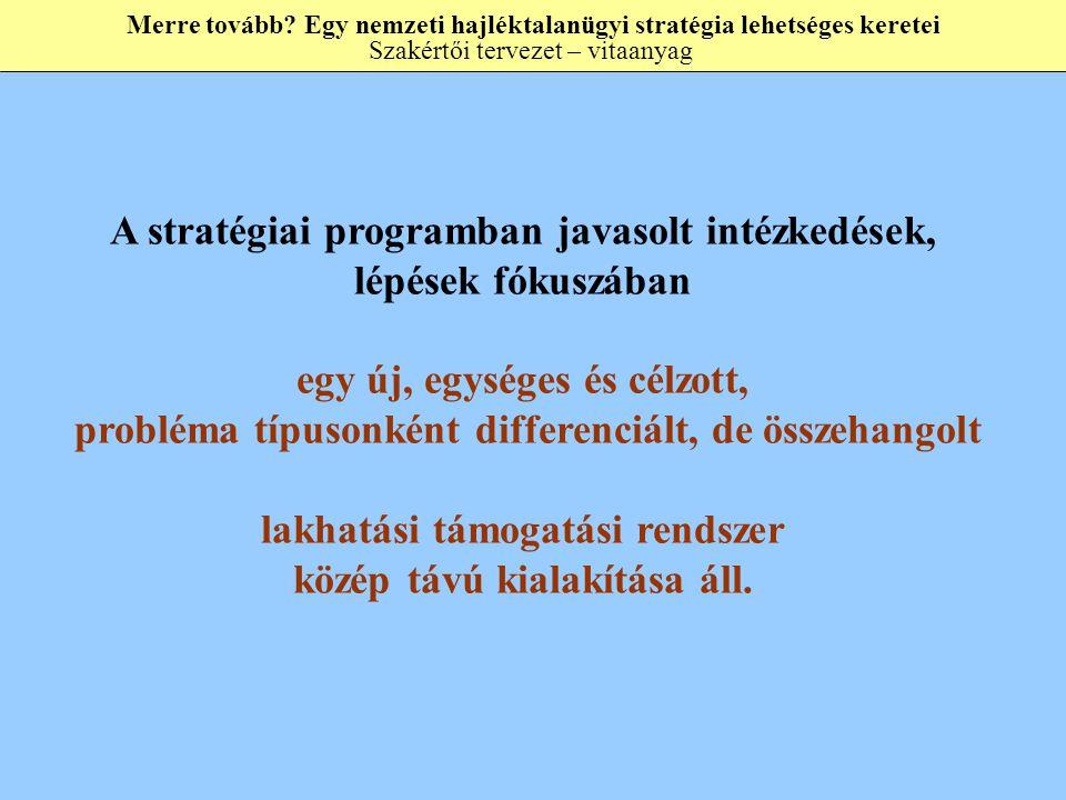 A stratégiai programban javasolt intézkedések, lépések fókuszában