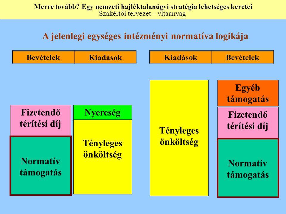 A jelenlegi egységes intézményi normatíva logikája