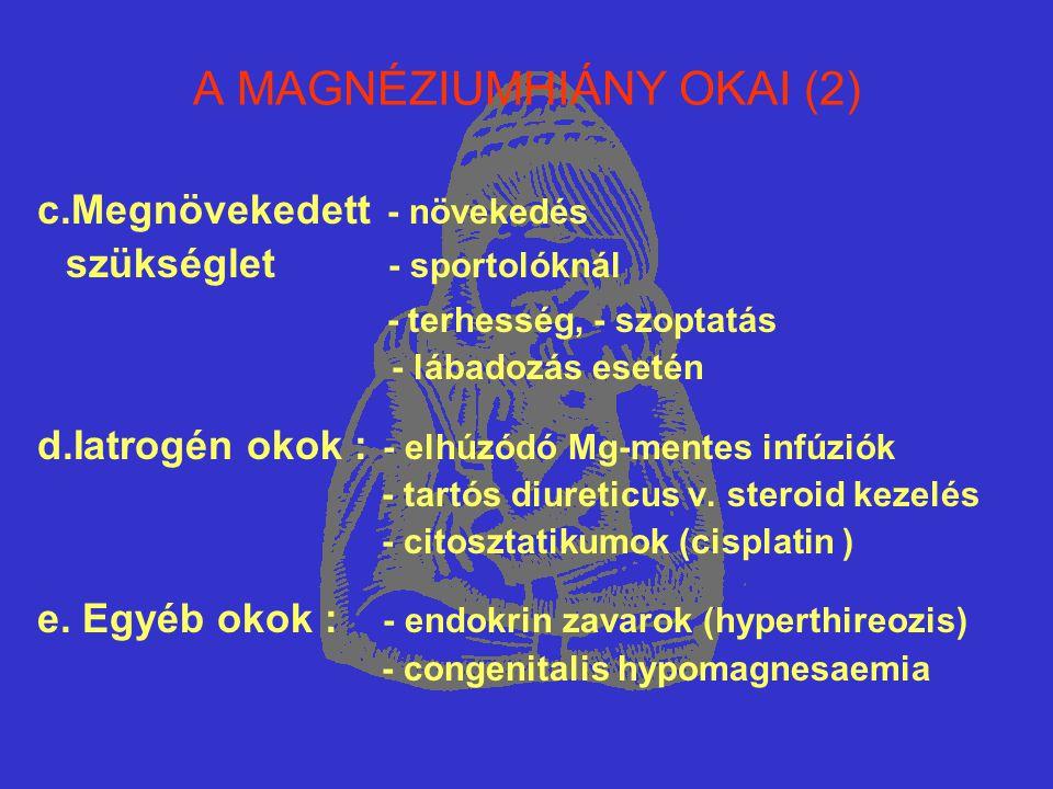 A MAGNÉZIUMHIÁNY OKAI (2)