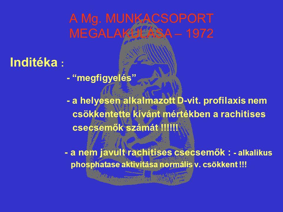 A Mg. MUNKACSOPORT MEGALAKULÁSA – 1972