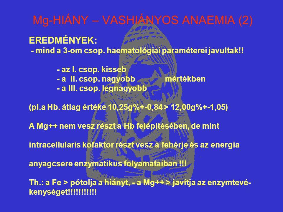 Mg-HIÁNY – VASHIÁNYOS ANAEMIA (2)