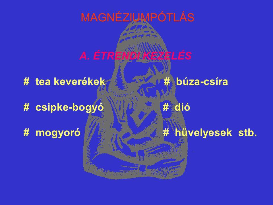MAGNÉZIUMPÓTLÁS A. ÉTRENDI KEZELÉS # tea keverékek # búza-csíra