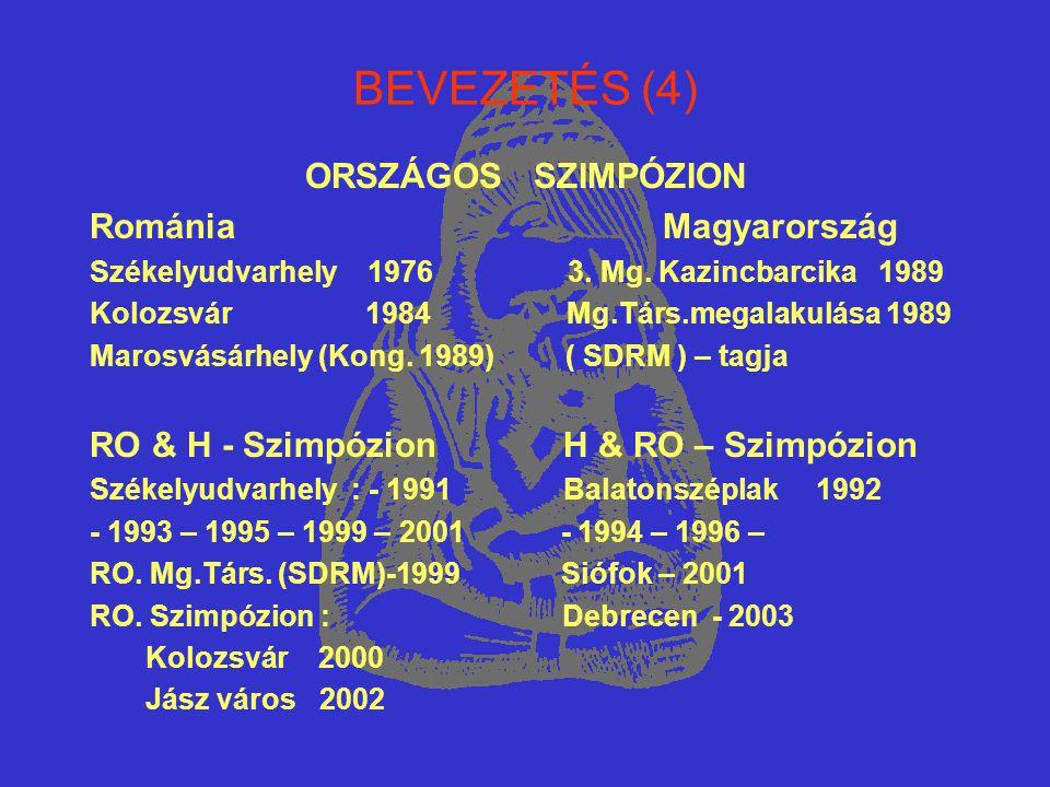 BEVEZETÉS (4) ORSZÁGOS SZIMPÓZION Románia Magyarország