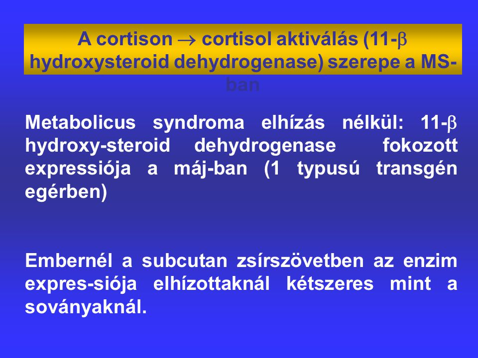 A cortison  cortisol aktiválás (11- hydroxysteroid dehydrogenase) szerepe a MS-ban