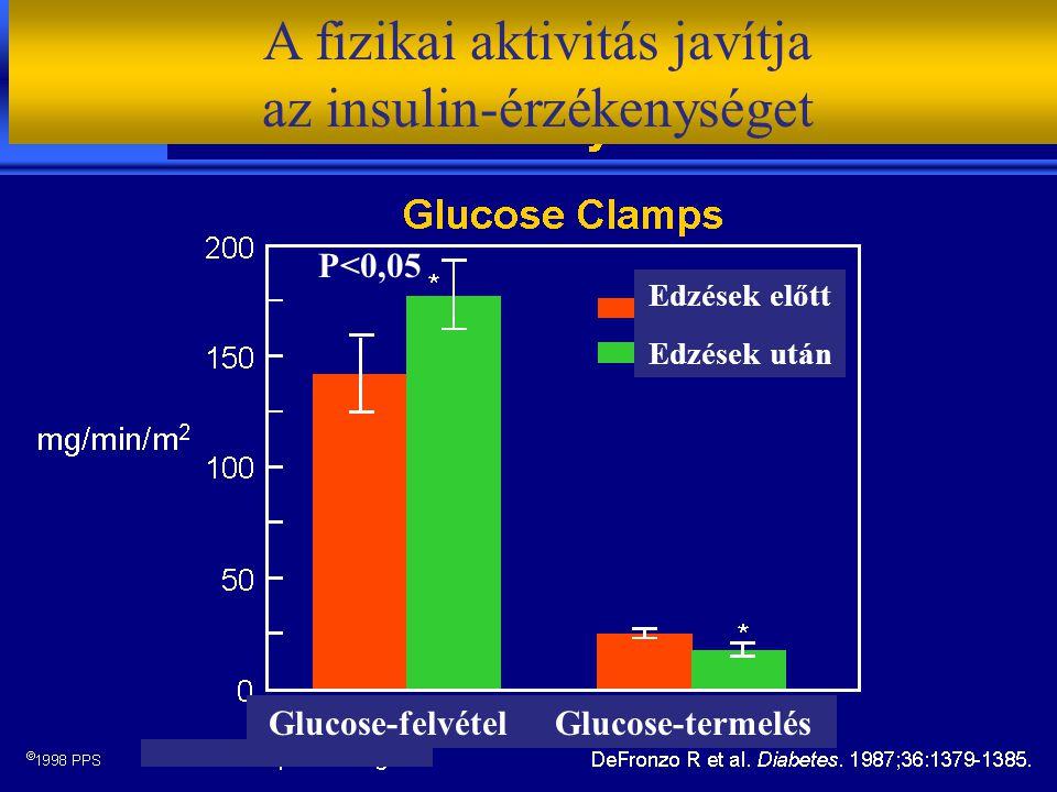 A fizikai aktivitás javítja az insulin-érzékenységet